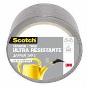 Scotch réparer toile ultra résistante grise 15m x 48mm