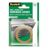 Scotch double face surfaces lisses 5mX48mm