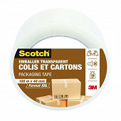 Scotch emballer colis et cartons transparent 100mX48mm