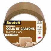 Scotch emballer colis et cartons havane 66MX48MM