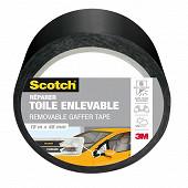 Scotch reparer toile ultra enlevable sans traces grise 18mX48mm