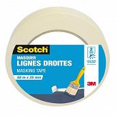 Scotch masquer ruban lignes droites 50mx25mm