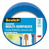 Scotch masquer multi surfaces bleu 40m x 48 mm
