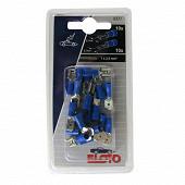 Eloto clips + languettes bleus 6.3mm