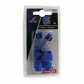 Eloto 5 connecteurs rapides automatiques bleus