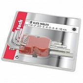 Chromatech 9 clés mâles de 1.5 à 10 mm