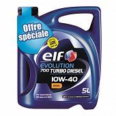 Elf evolution 700 ts 10w40 5l offre speciale