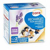 Cora 2 recharges d'absorbeur d'humidité (pastille)  450 gr parfum lavande