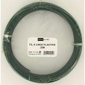 Trefilaction fil à linge plastifie vert 25m