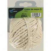 Trefilaction cordon de maçon coton cable 3mm  20m