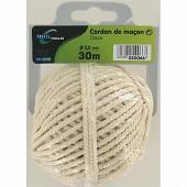Trefilaction cordon maçon coton cable 2,5 30m 100g