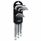 Aeg set 9 clés 6 pans + support