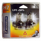 Michelin 2 ampoules voiture H7 life +50% 55 watts
