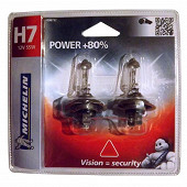 Michelin 2 ampoules H7 power +80% 55 watts