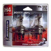 Michelin 2 ampoules H4 power +80% 60/55 watts