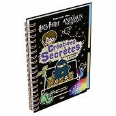 Coloriages - Créatures secrètes : d'après les films Harry Potter, Les animaux fantastiques : mon liv