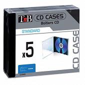 T'nb Pack de 5 boîtiers simples format standard pour 1 CD CDTR05