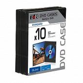 T'nb Pack de 10 boîtiers noirs Slim simples pour 1 DVD BINODVD10SL