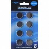 Lot de 8 piles boutons CR2032