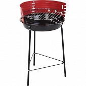 Barbecue rond diamètre 33 cm coloris rouge
