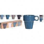 Lot de 4 mugs sombre 18 cl