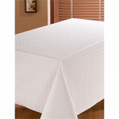 Protège table rectangulaire blanc