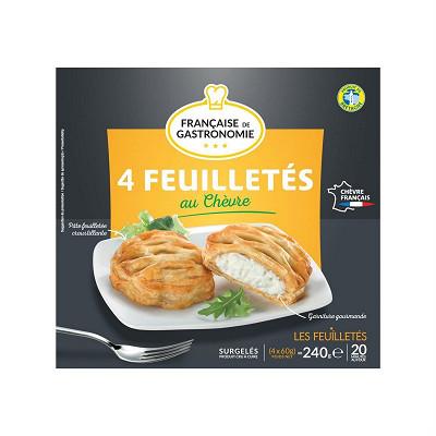 Française de Gastronomie Française de Gastronomie 4 feuilletés au chèvre 240g