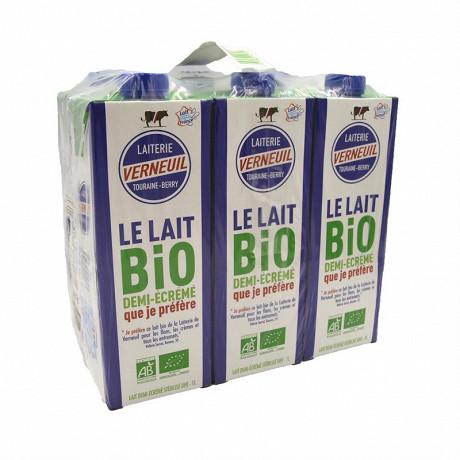 Lait bio Verneuil 6x1 litres