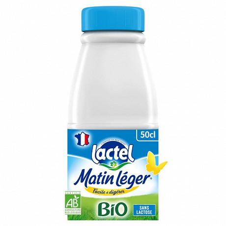 Lactel matin léger bio 1.2.% mg uht bouteille 50 cl