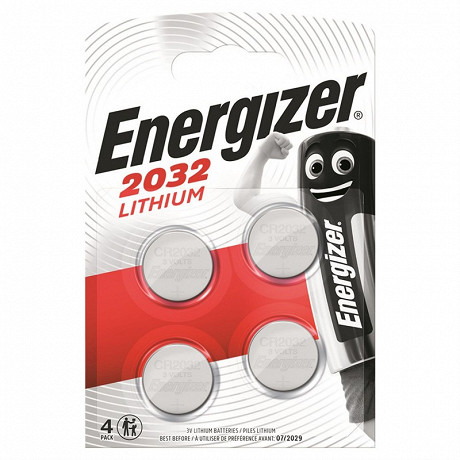 Energizer 4 piles boutons CR 2032