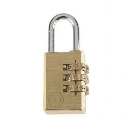 Yale cadenas laiton à 3 chiffres programmables  30mm