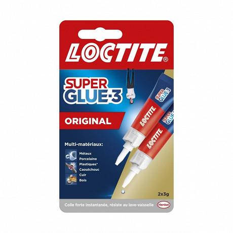 LOCTITE Colles Cyanoacrylates SUPERGLUE-3 Liquide Universal