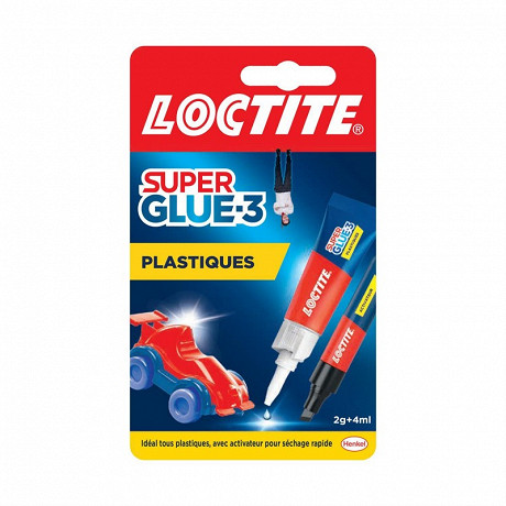 Loctite colle super glue-3 plastiques 2 gr