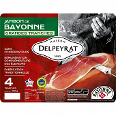 Delpeyrat jambon Bayonne 4 grandes tranches 100g