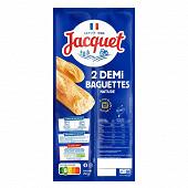 Jacquet 2 demi baguettes nature 250g
