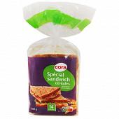 Cora pain de mie spécial sandwich céréales 14 grandes tranches  550g