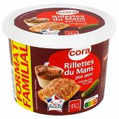 Cora rillettes du Mans pur porc pot 400 g