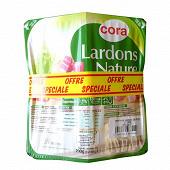 Cora lardons natures lot de 3 600g