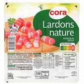 Cora lardons nature 2x100g