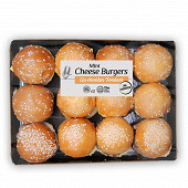 Plateau 12 mini cheese burgers paso 540g