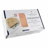 """Foie gras de canard entier france coque """"l'excellence""""400g"""