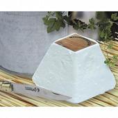 Pyramide blanche au lait de chèvre thermisé  220g