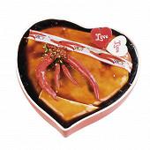 Terrine au piment d'espelette forme coeur rouge
