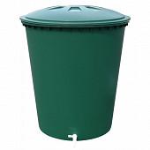 Graf  récupérateur d'eau cylindrique 310 litres coloris vert complet couvercle et robin