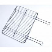 Verciel grille double acier chromé 2 manches métal 51x38cm réf 450310PR