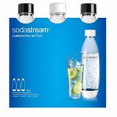 Sodastream Pack de 3 bouteilles pet 1l fuse blanche et noire 3000098