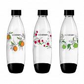 Sodastream pack de 3 bouteilles pet 1L hipster 3000143
