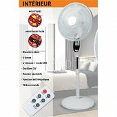 Saneo Ventilateur sur pied avec anti-moustiques + télécommande 2091