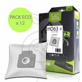 Home Equipement sac synthétique pour aspirateur X12 HEHO63+ECO