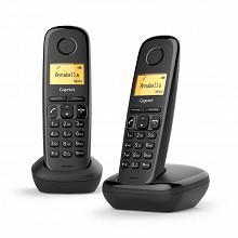 Gigaset Téléphone sans fil sans répondeur A170 DUO NOIR